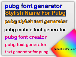 Fancy Text Generator for pubg